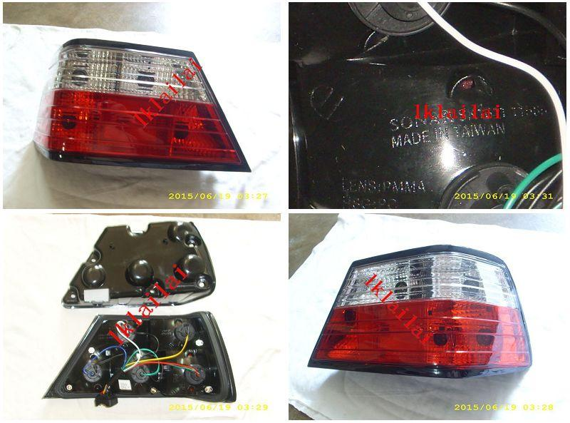 SONAR Mercedes Benz E class W124 85-96 Crystal Tail Lamp [Red-Clear]