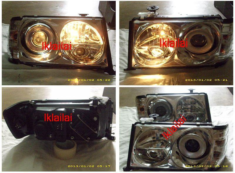 Sonar Mercedes Benz E-Class W124 '86 Head Lamp Projector [Chrome]