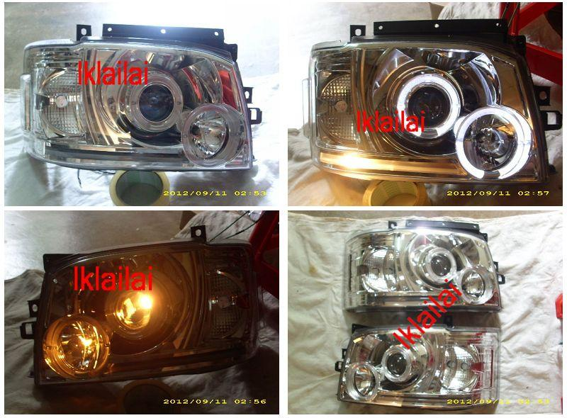 SONAR Toyota Hiace '04-09 LED Ring Projector Head Lamp