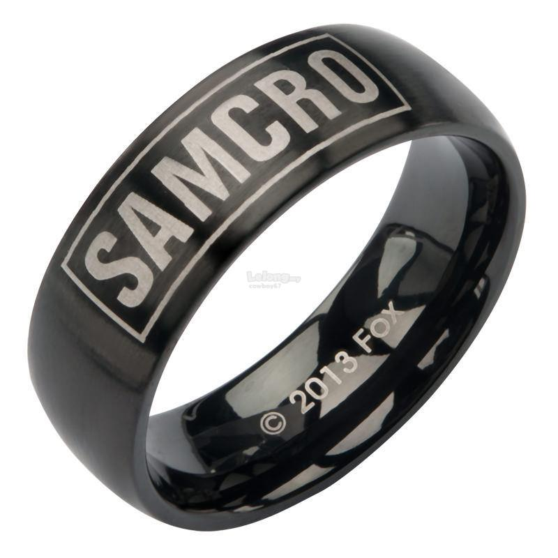 Sons Of Anarchy Black Stainless Steel Samcro Ring - New
