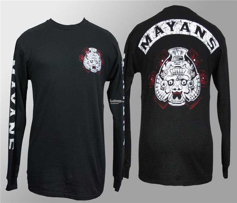 Sons Of Anarchy  Mayans Long Sleeve T-shirt - New