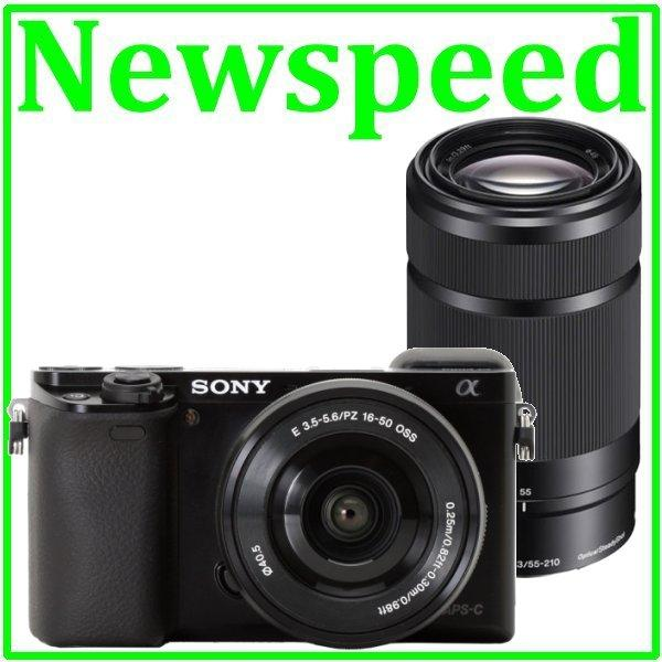 Sony Alpha A6000 16-50 + 55-210 Twin Lens Digital Camera +16GB+Bag