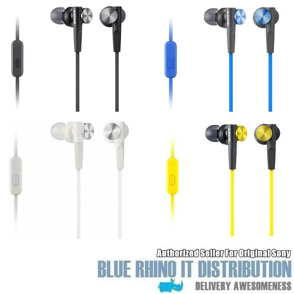 Sony MDR-XB50AP Extra Bass In-Ear Headphones (Blue)