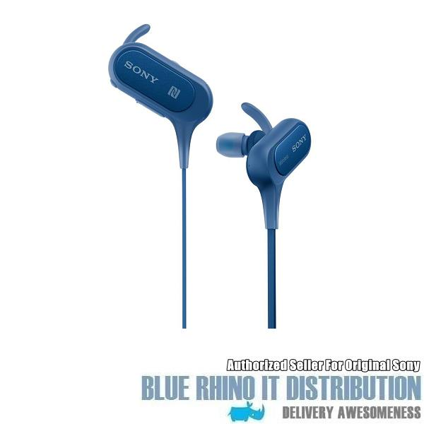 Sony MDR-XB50BS Extra Bass Sports Bluetooth In-Ear Headphones (Blue)