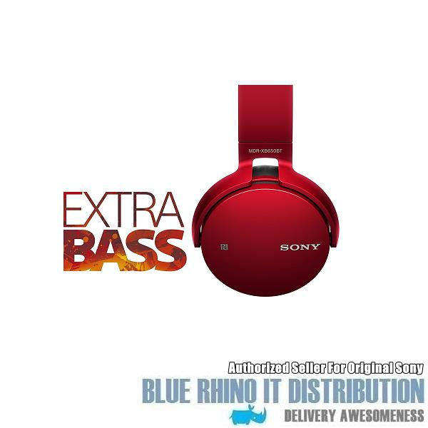 Sony MDR-XB650BT Extra Bass Bluetooth Headphones (Red)