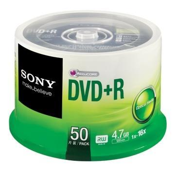 SONY MEDIA DISC DVD+R 16X 50PCS, 50DPR47C3