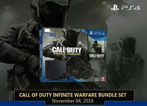 SONY PLAYSTATION 4 PS4 500GB SLIM CALL OF DUTY INFINITE WARFARE BUNDLE