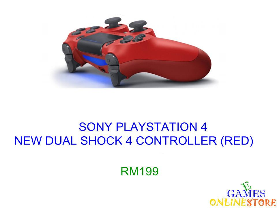 SONY PS4 New DualShock 4 Controller (Red) ★Brand New & Sealed&#9..