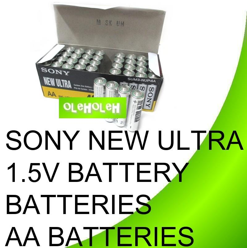 Sony New Ultra 1.5V Battery Batteries AA batteries 40pcs