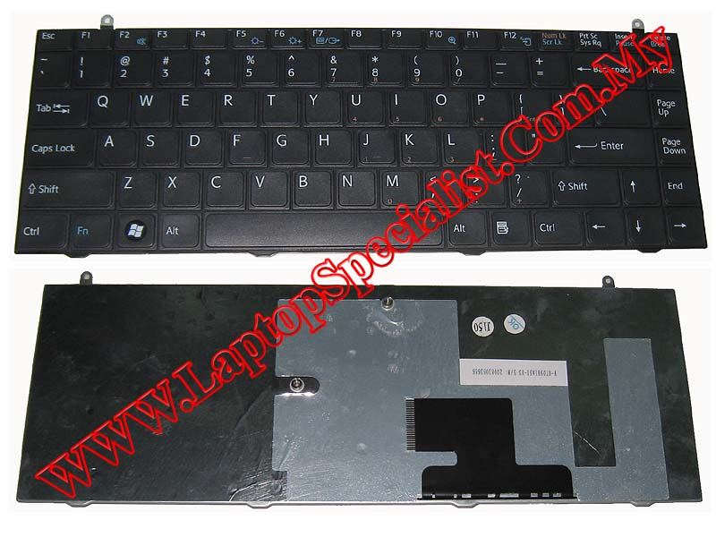 Sony Vaio VGN-FZ Black New US Keyboard