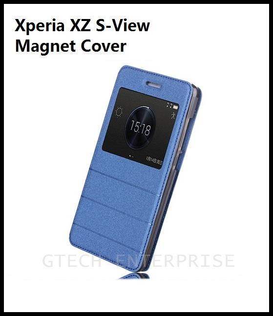 SONY Xperia XZs XZ S-View Magnet Standable Case Cover