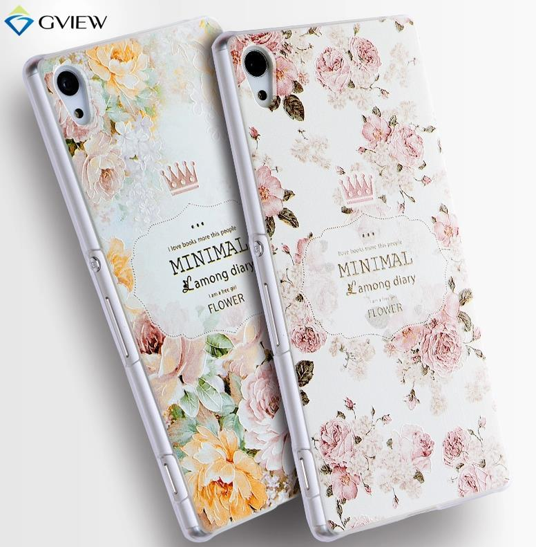 Sony Xperia Z3 Plus Z4 3D Relief Back Case Cover Casing + Free Gift
