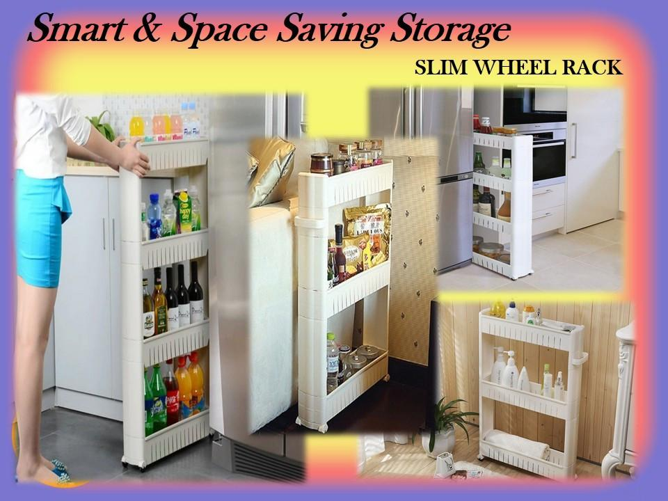 Space Saving Storage: Slim Wheel Rack