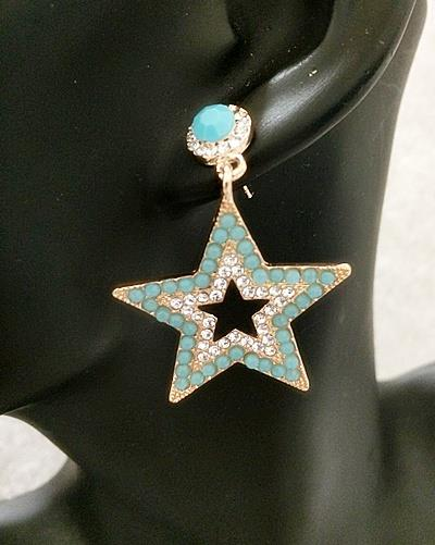Sparkling Stars Earrings - Blue (Free Shipping)