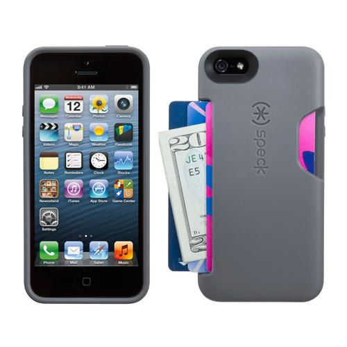 Speck SmartFlex Card Case for iPhone 5/5S Graphite Grey