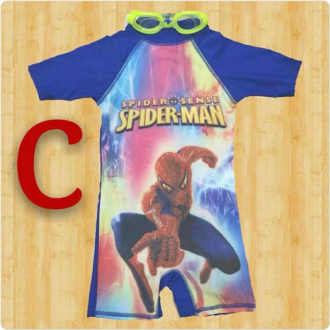 SPIDERMAN SWIMMING SUIT WITH FREE SWIMMING GLASSES