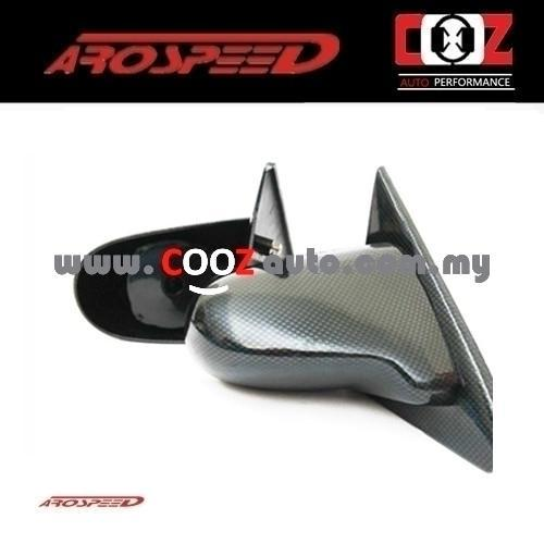 Spoon Style Carbon Fiber Look Side Mirror - Honda Civic EG 1992-1995 (