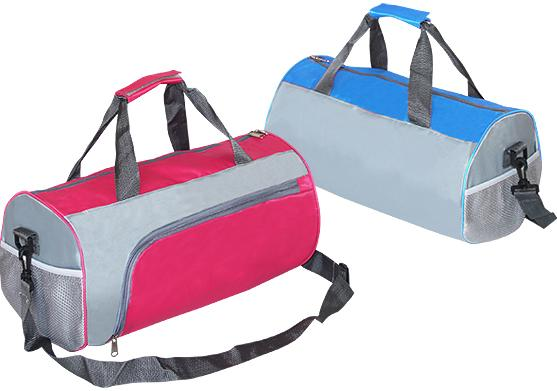 Sport / Travelling Bag Jacquard Nylon, Blue & Pink Colors Available