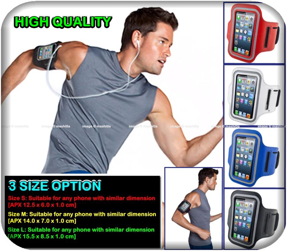 Sports Armband Mobile Phone Case Cover Pouch Holder Arm Sleeve Waterpr