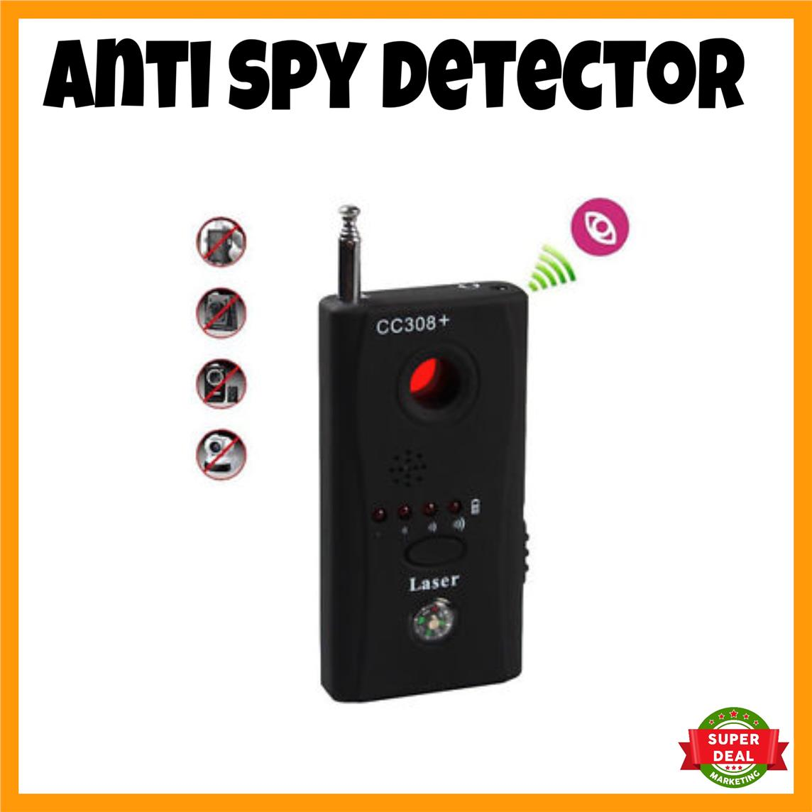 Spy Camera Detector Anti Spy Detector Hidden Camera Detector CC308+
