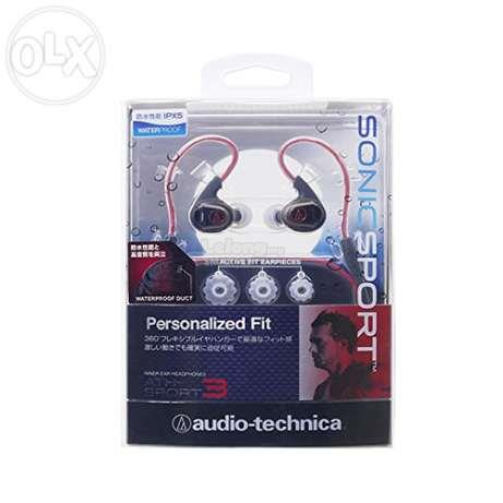 ST. AUDIO TECHNICA EARSET WIRED ATH-SPORT3 BLK/RED