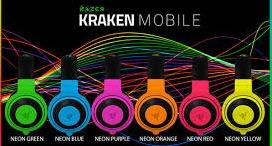 ST. RAZER HEADSET WIRED KRAKEN MOBILE NEON RED/YLW