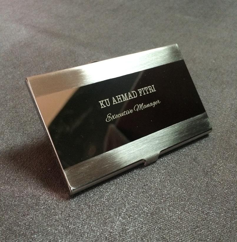 Hadiah Store: Stainless Steel Silver Aluminium Business ID Card Holder