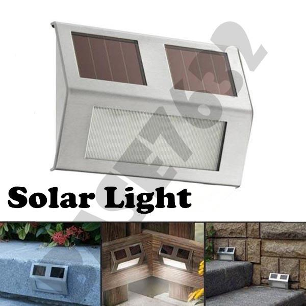 Stainless Steel Solar Wall Stair Wall Path way Landscape Led Light