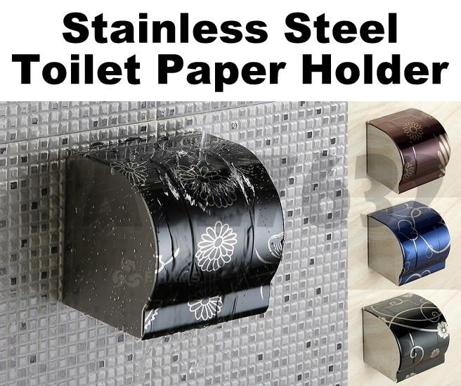 Stainless Steel  Wall Mounted Toilet Tissue Paper Roll Holder Box