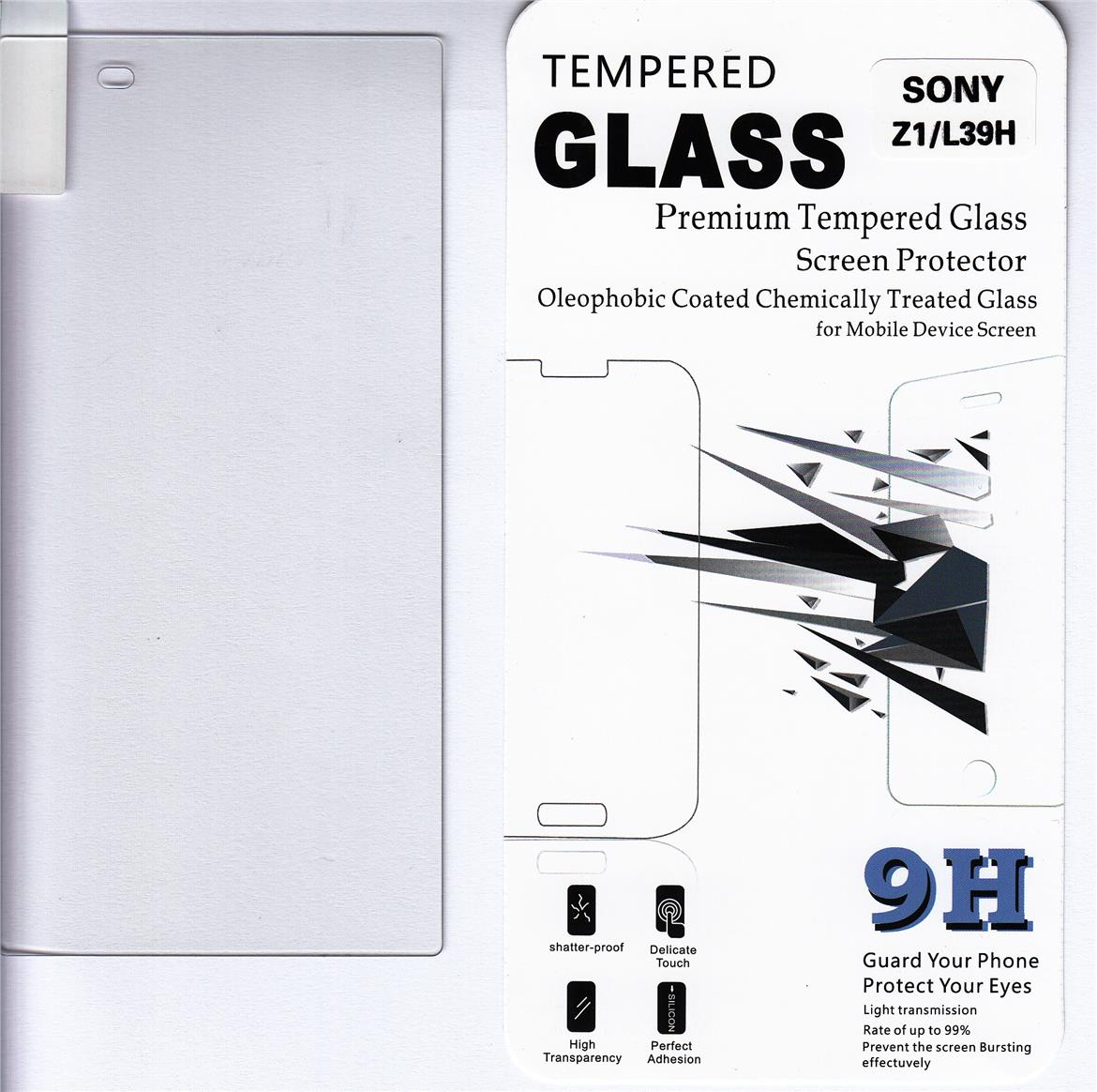 Standard Clear Tempered Glass For Sony Xperia Z1