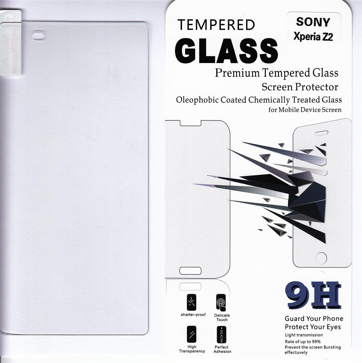 Standard Clear Tempered Glass For Sony Xperia Z2