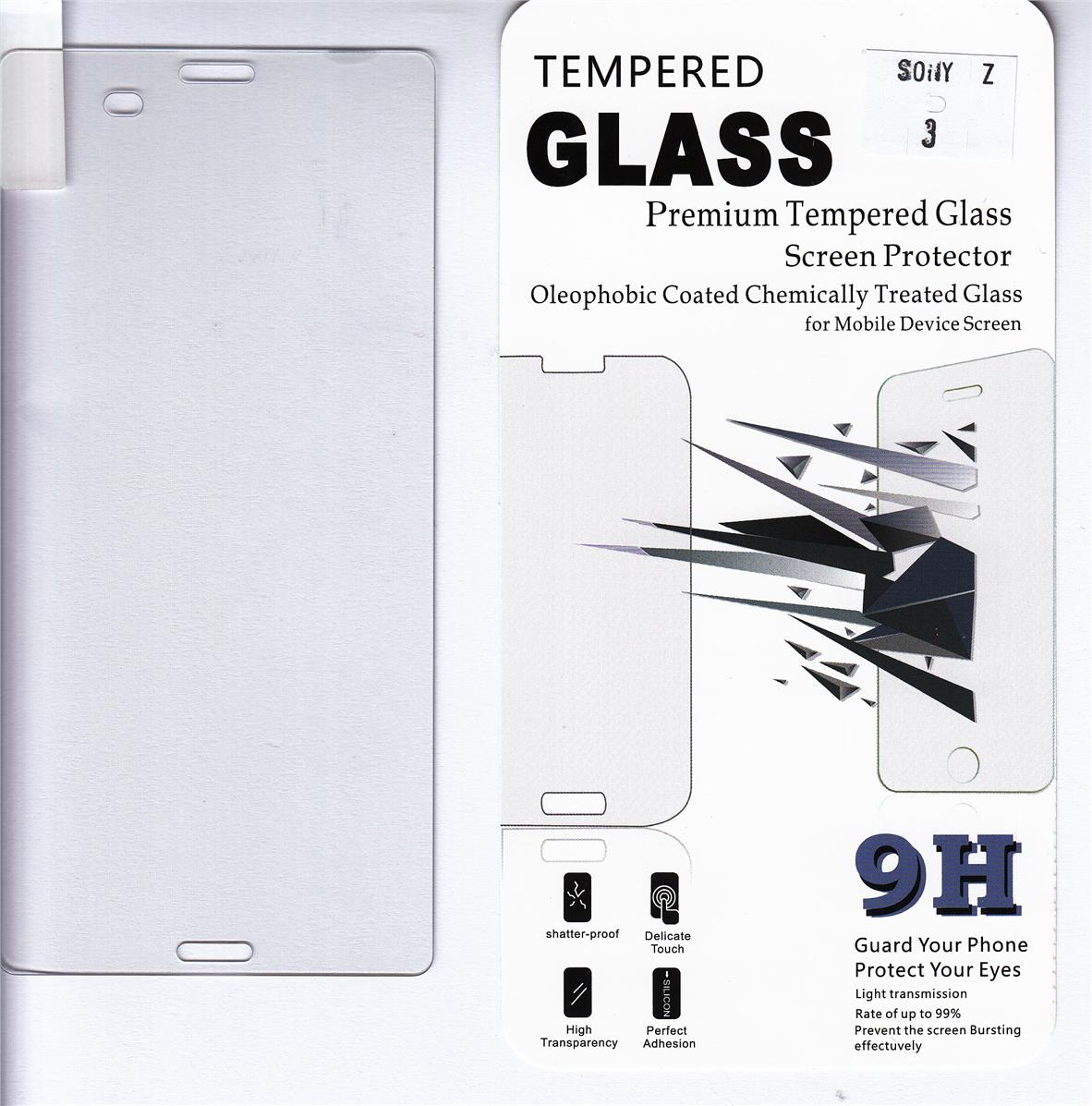 Standard Clear Tempered Glass For Sony Xperia Z3