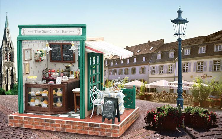 The Star Coffee Bar with Light/Cover/Music DIY Miniature Doll House