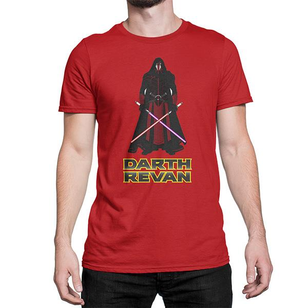 Star Wars Darth Revan Men's Custom Design Cotton T-Shirt
