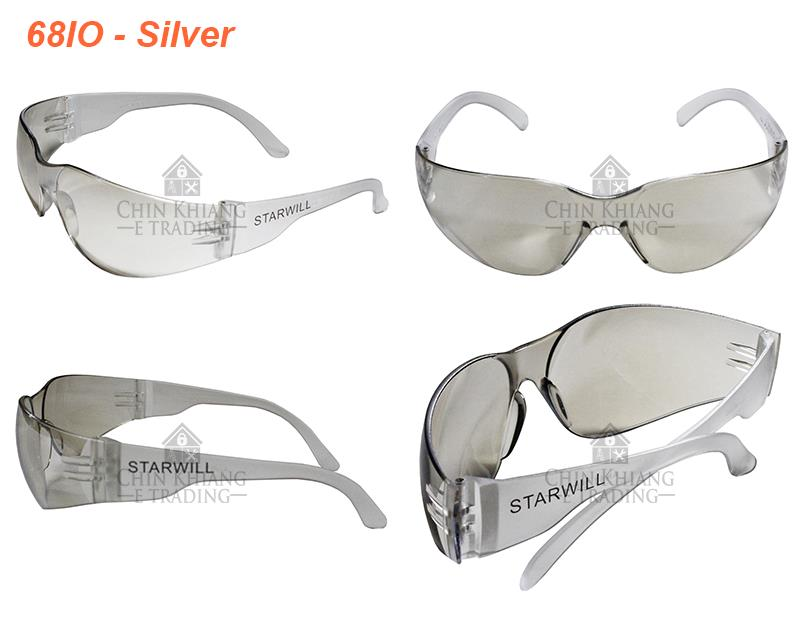 Starwill Safety Spectacle Sport Sunglasses Eyewear Clear Silver Smoke