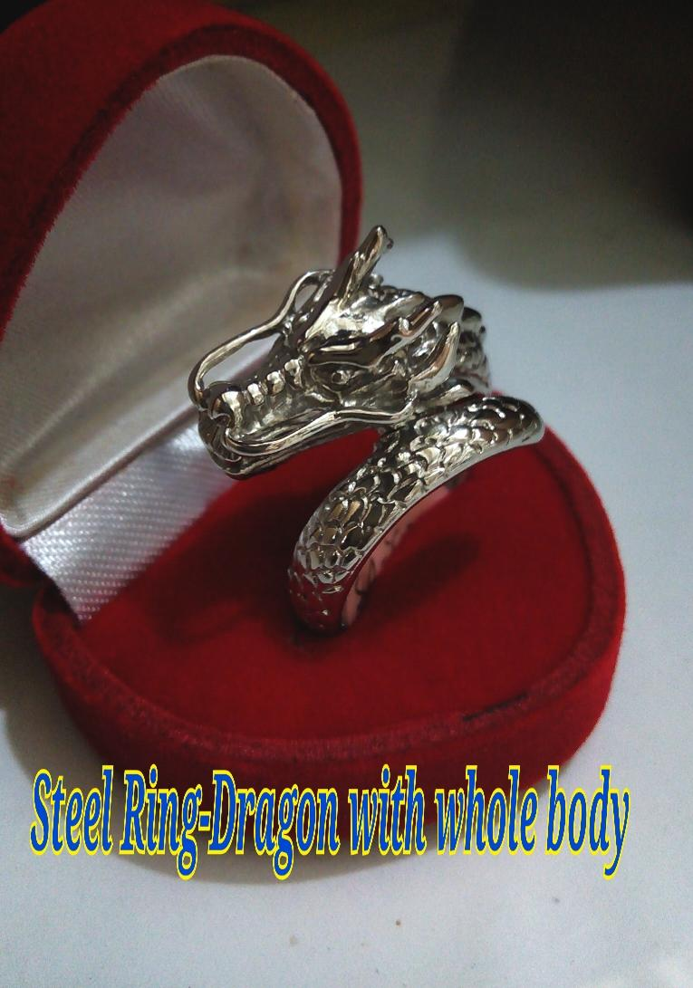 Steel Ring For Man-#11-dragon with body