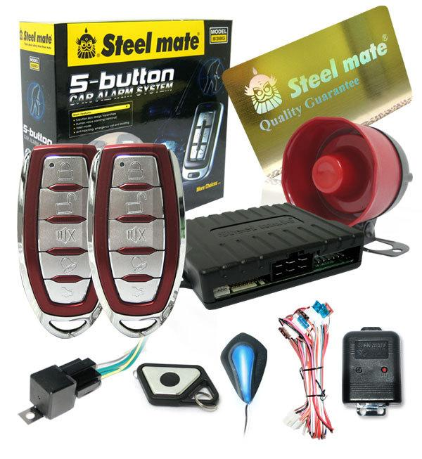 Steelmate 2-way Car Talking Security Alarm System - 5-Button [838G]