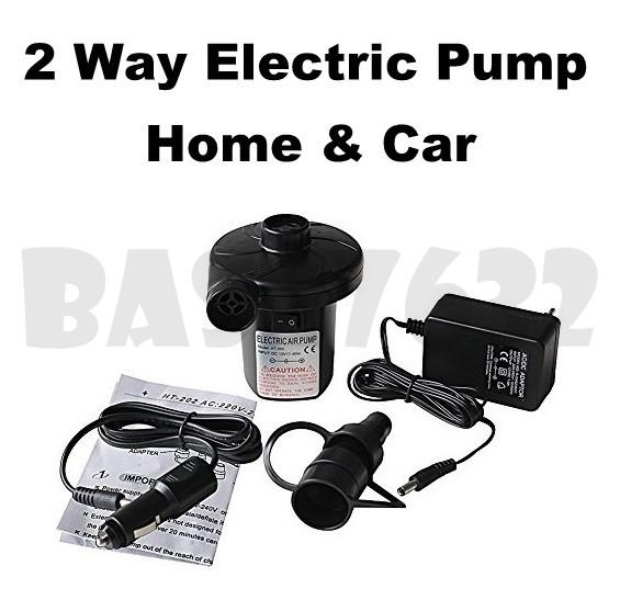 Stermay 2 Ways Electric Home & Car Use 12V Air Pump HT-202 Inflator
