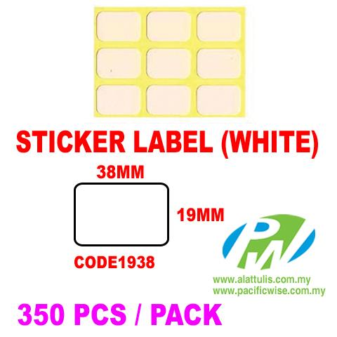 Sticker Label (19mm x 38mm)