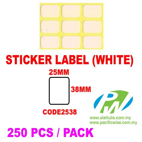 Sticker Label (25mm x 38mm)