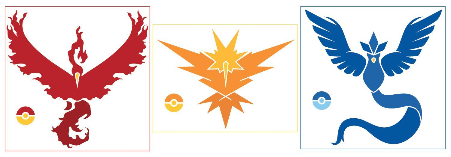 Sticker - Pokemon Go Teams - Mystic / Instinct / Valor