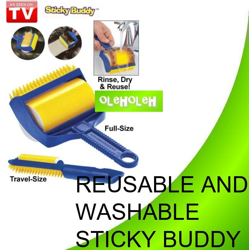 Sticky Buddy Reusable Lint Roller Sticky Washable Dust Hair Remover