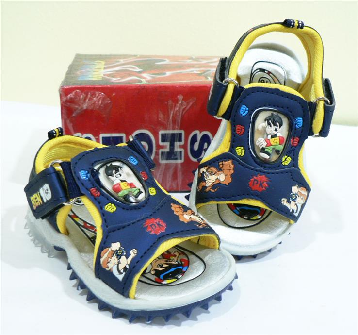 Stock Clearance!!~ Ben 10 Toddler Kids Sandal With Light