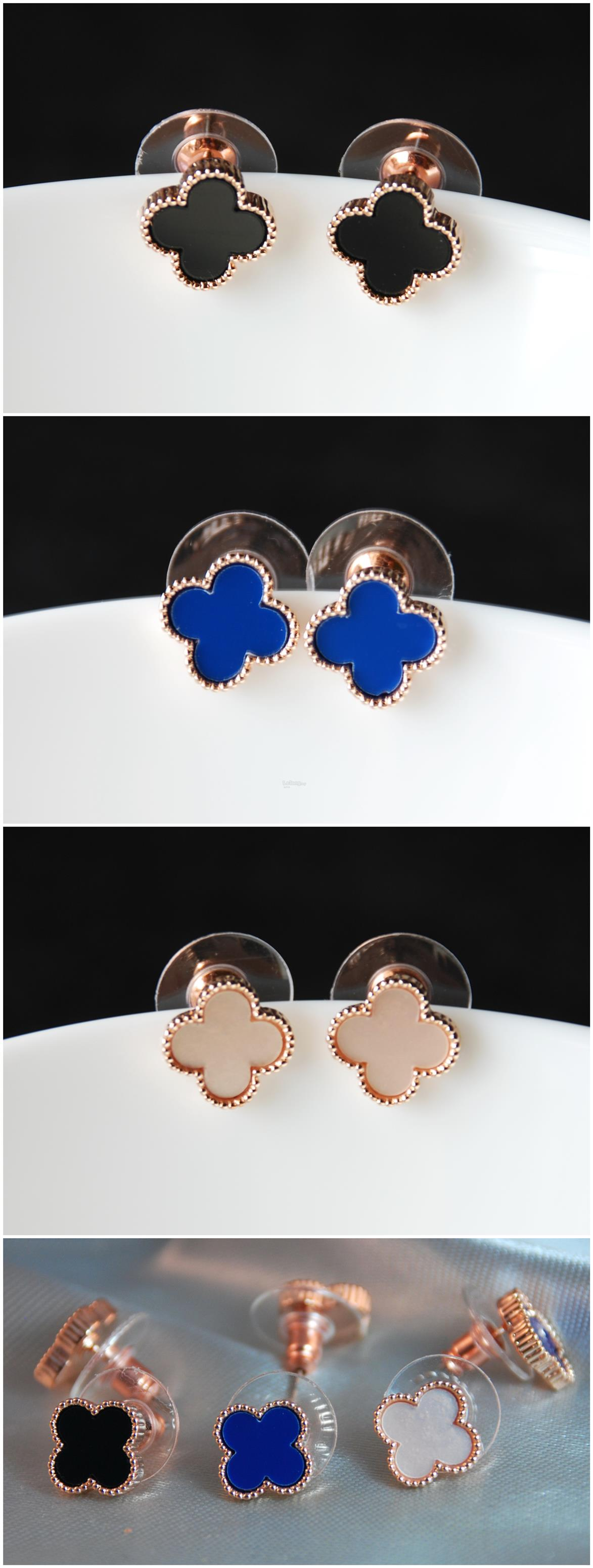 [Stock Clearance] Korean Earrings - small 4-Leaf Lucky Clover #6