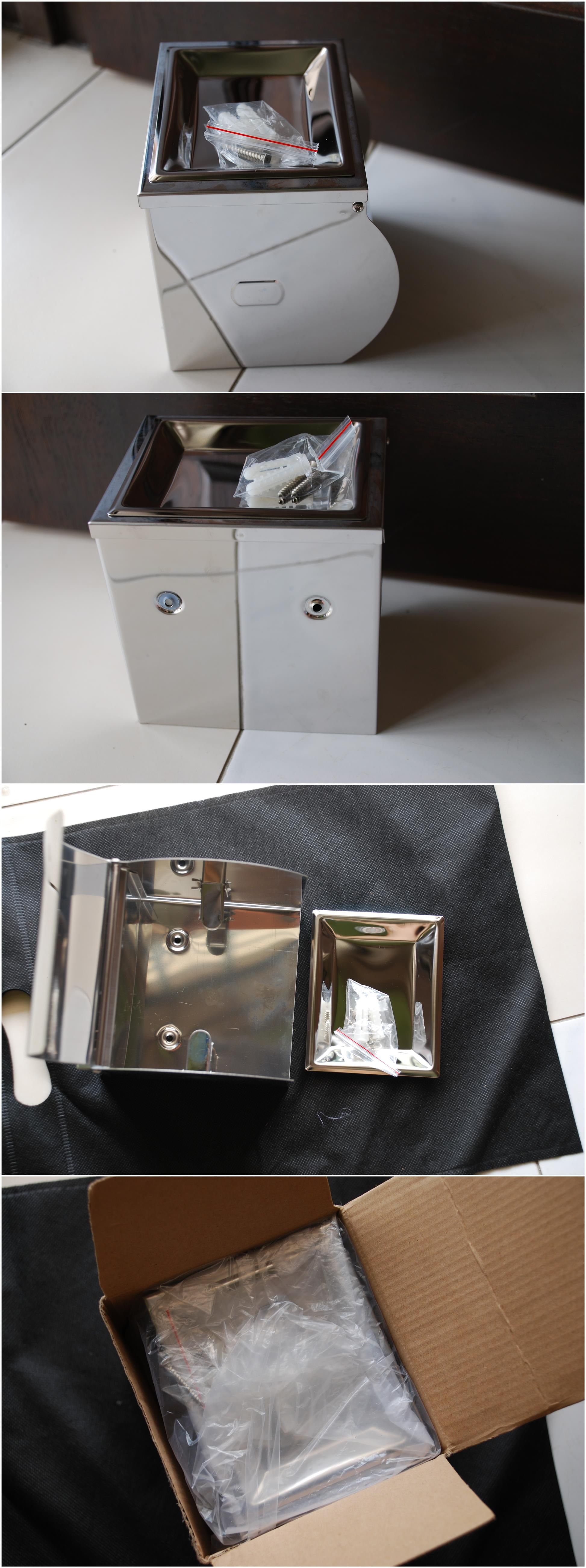 [Stock Clearance] Stainless Steel Toilet Tissue Holder with Ashtray