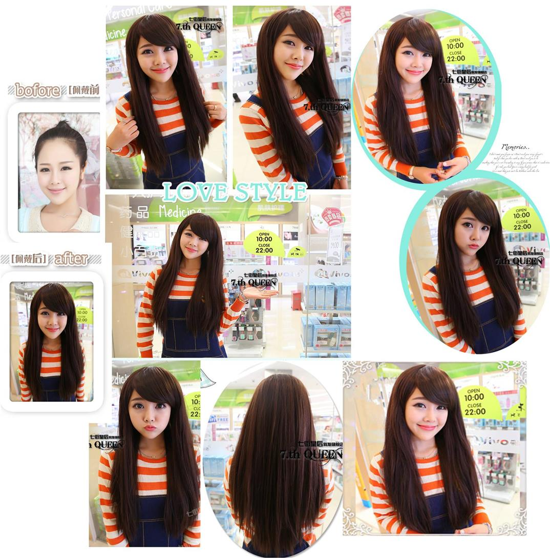 Straight hair/ready stock/ rambut palsu