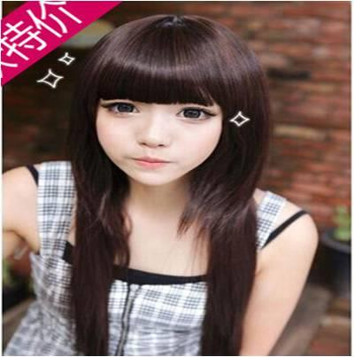 Straight wig*dec 25 ready stock-rambut palsu /promotion deal