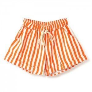 Stripe Loose Shorts (Orange)