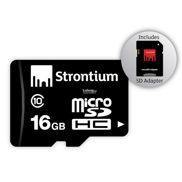 Strontium 16GB Micro SD SDHC Class 10 Android Memory Card