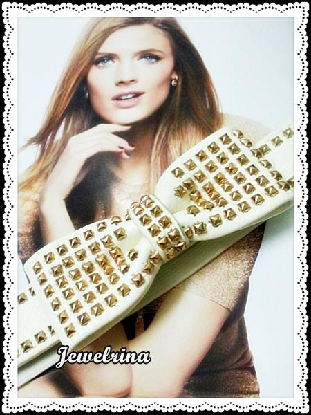 Studded Cream Belt (Free Shipping)